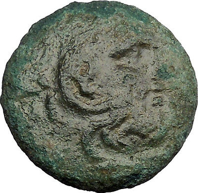 Philip V King of Macedon 221BC Ancient Greek Coin Bearded Hercules Flute i38673