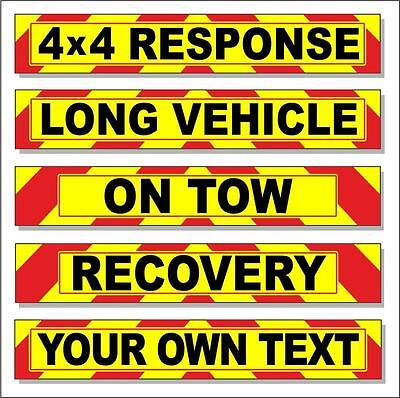 Recovery Wide Load Warning Highway Reflective Sign Chevron Magnetic Long Vehicle