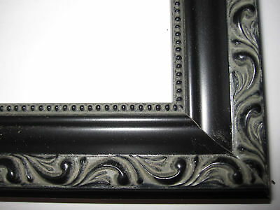 Black English Victorian Ornate Wood Picture Frames Custom Made