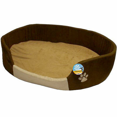 Me & My Xl/extra Large Soft Brown & Beige Dog Pet Bed And Cushion Big/xxl