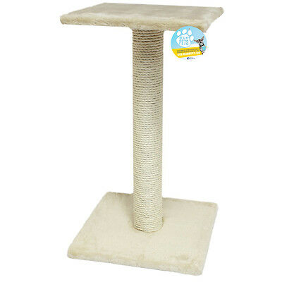 Me & My Pet Large Beige Cat/kitten Sisal Scratching/scratcher Post/tree/platform