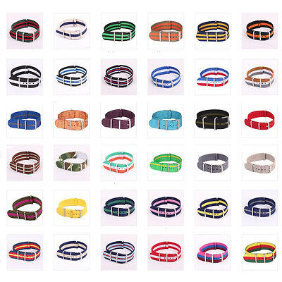 New Arrivals Nato 20mm Nylon Military Army Gift Watches Straps Wristwatch Band