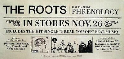 The ROOTS 2002 phrenology rare advance promotional poster ~MINT condition~!