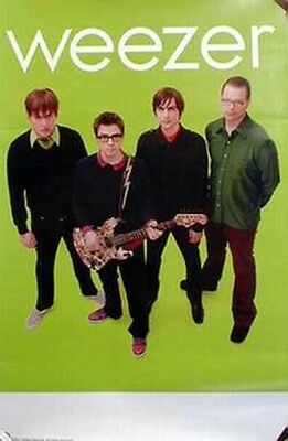 "WEEZER 2001 ""green"" album promotional poster ~MINT condition NEW old stock~!!"