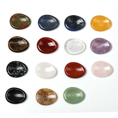 Natural Crystal Worry Stone Massage Stone Healing Reiki Sold By 1 PCS Free Pouch