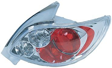 Peugeot 206 Hatch Chrome Lexus Rear Back Tail Car Lights - Brand New & Boxed