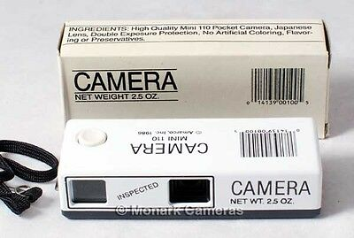 Novelty 110 Pocket Mini Camera from 1986, Boxed. New Old Stock. Others Listed.