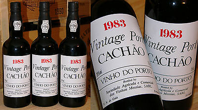 1983er Vintage Port - Caves Messias - Quinta do Cachao *****