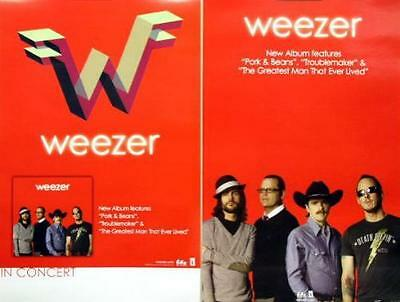 WEEZER `09 red LP double sided tour promo poster ~MINT~