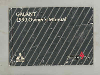 1990 Mitsubishi Galant ORIGINAL Owner's Manual fo1327