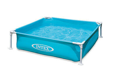 "Intex Mini Frame Kids 48""x48""x12"" Beginner Kiddie Swimming Pool 