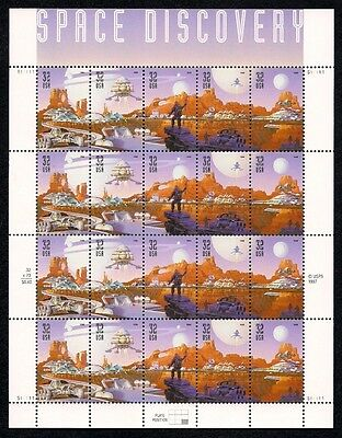 1998 - SPACE DISCOVERY - #3238-42 Full Mint -MNH- Sheet