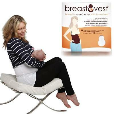 BreastVest Nursing Top - EXTRA SMALL 8-10 (White) Maternity Clothing for Mum