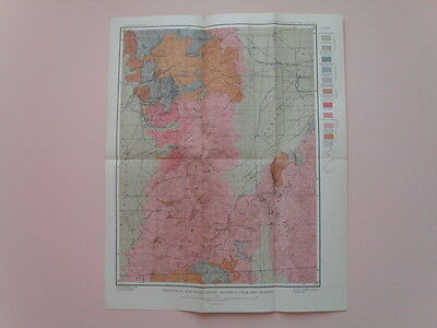 Vintage Geological Map of the Tintic District, Utah and Vicinity - Fine, ca.1897