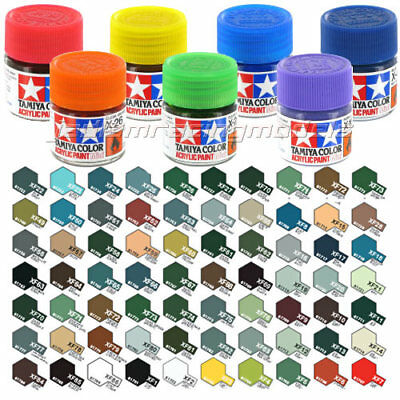 TAMIYA Acrylic Paint 10ml X-1 to X-28 Choose Colour - Model Paint Humbrol