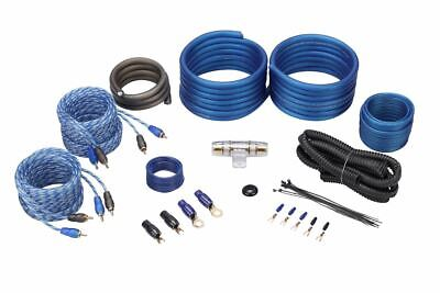 Rockville RWK42 4 Gauge 4 Chan Car Amp Wiring Installation Wire Kit (2) RCA's