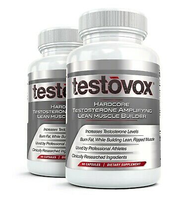 2x TESTOVOX Hardcore Bodybuilder Supplement Get Ripped Lose Fat Gain Muscle Fast