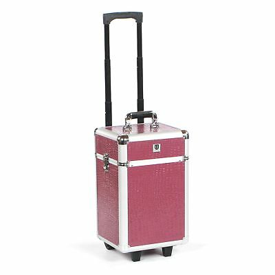 Cosmetic makeup nail hairdressing beauty vanity hair trolley case box storage FP