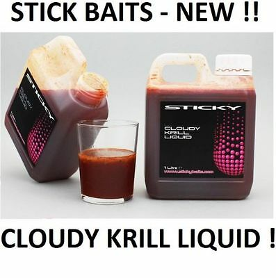 Sticky Baits NEW Cloudy Krill Liquid Now Available 1litre - Carp Fishing