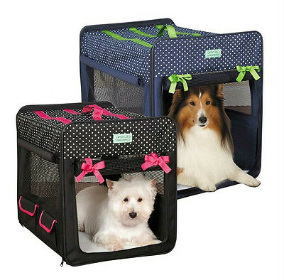 Polka Dot Collapsible Crates for Dogs - Water Resistant Fold Down Dog Crate NWT!