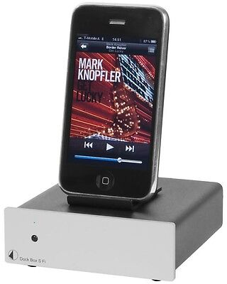 Pro-Ject Dock Box S Fi silber (Audiophile Dockingstation)