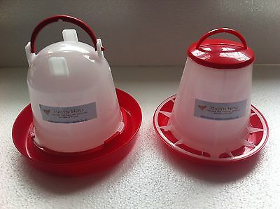 1kg Feeder & 1.5Ltr Drinker Chicken/Poultry/Chick/Hen Food And Water Accesories