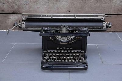 VTG Antique L.C. SMITH CORONA 8 20 1930s ART DECO TYPEWRITER Rare! 1933