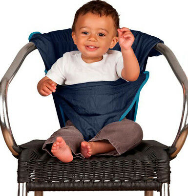 Totseat Diminito Adjustable Foldable Lightweight Baby Travel Chair Harness Blue