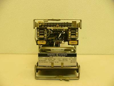 general electric time overcurrent relay 121ac53a3a • 49 99 picclick ge general electric 12iac53b808a time overcurrent relay