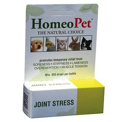 HomeoPet Joint Stress 15 ml | Homeopathic Pain Relief for Dogs Cats and Birds