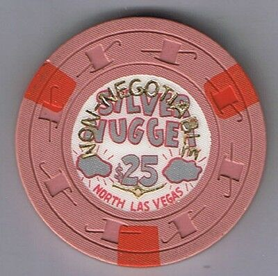Silver Nugget $25.00 Casino Chip Cancelled North Las Vegas Nevada