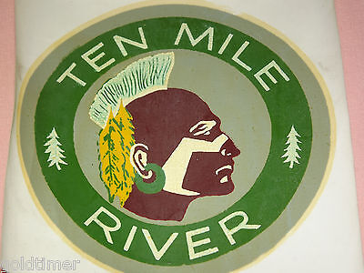 Vintage Bsa Boy Scouts Of America  Ten Mile River Indian   Decal Sticker