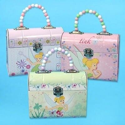 Case of 12 Tinkerbell Tin Purses with Beaded Handles