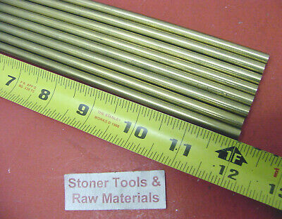 """20 Pieces of 1/4"""" C360 BRASS SOLID ROUND ROD 12"""" long .250"""" Lathe Bar Stock"""