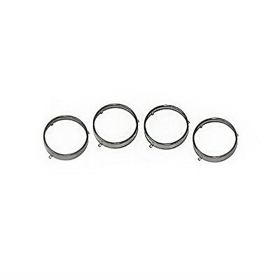 """64-72 GM A Body Stainless Steel Headlight Retainer Trim Rings 5 3/4"""" 4 Piece"""