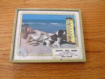 Advertisement Thermometer Pinup Barsotti Bros Bakery Pittsburgh  PA swimsuit