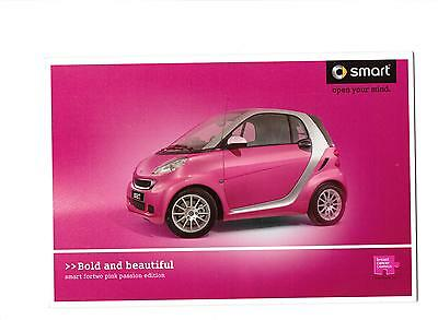Smart Fortwo Pink Passion Special Edition Sales Brochure 2010