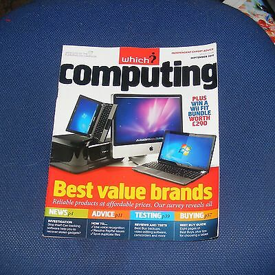 Which? Computing September 2011 - Best Value Brands