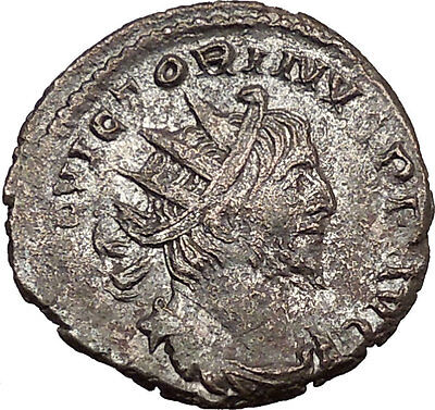 Victorinus  269AD Very rare Silvered Ancient Roman Coin Salus Health Cult i39008