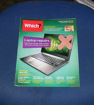 Which? September 2012 - Laptop Repairs