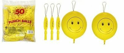 Large Smiley Punch Balloons Kids Loot Goody Party Bags Pinnata Fillers Toys