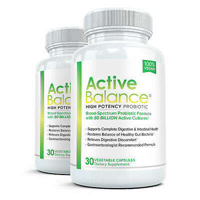 2x Active Balance - Clinical Strength Probiotic Supplement with 50 Billion CFU's