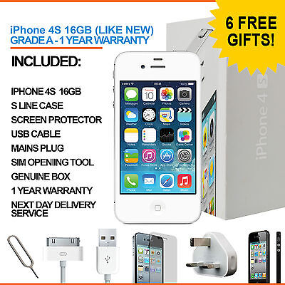 Apple iPhone 4S 16GB White Factory Unlocked Grade A