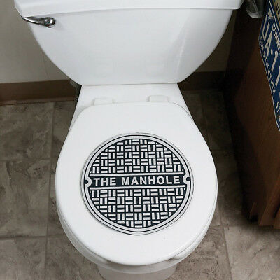 Beer Garage Man Cave Manhole Toilet Bowl Bathroom Sewer Cover ~ Big Mouth Toys