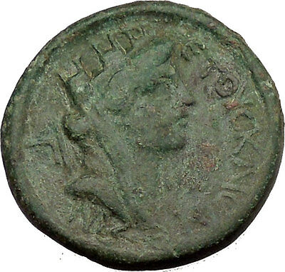 CLAUDIUS 43AD Anazarbus in Cilicia Tyche Luck Ancient Roman COin Nice i39051