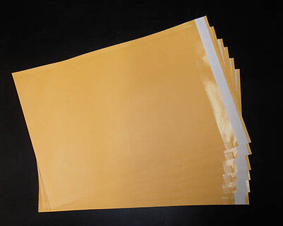 220PCS 225x320mm BE02 Premium Business Envelope Golden Laminated Kraft Paper C4