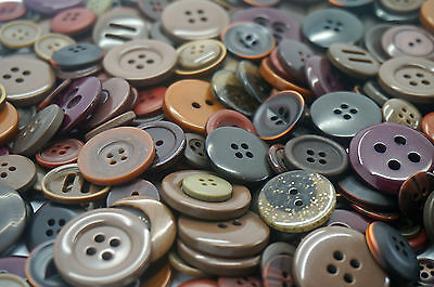 Dark Brown Craft Buttons mixed size large small Round Bulk sewing 100g 200g 400g