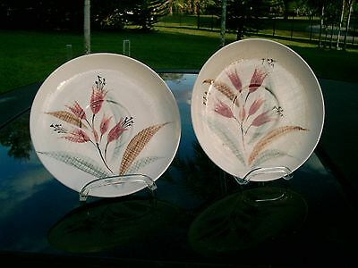 Orient Ware  Red Wild Flowers  Japan China  Dinnerware Lot 0F 2 Saucers