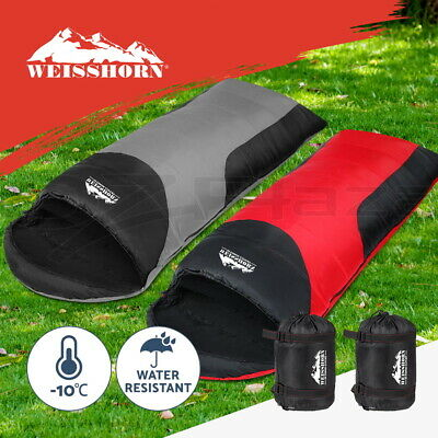 WEISSHORN 2X Camping Envelope Sleeping Bag -10°C Single Thermal Tent Hiking