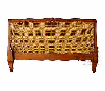 French Louis Headboard - Double Size - Mahogany - New - In Stock